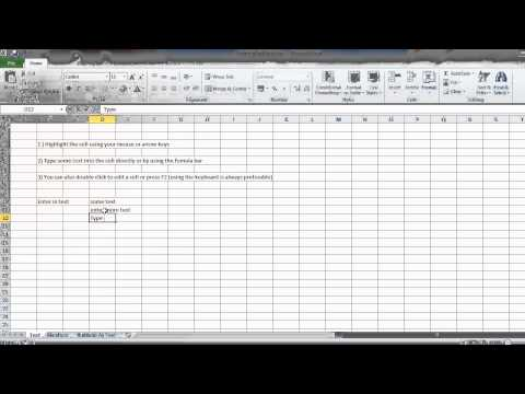 Entering Data As Text And Numbers, Excel Lesson