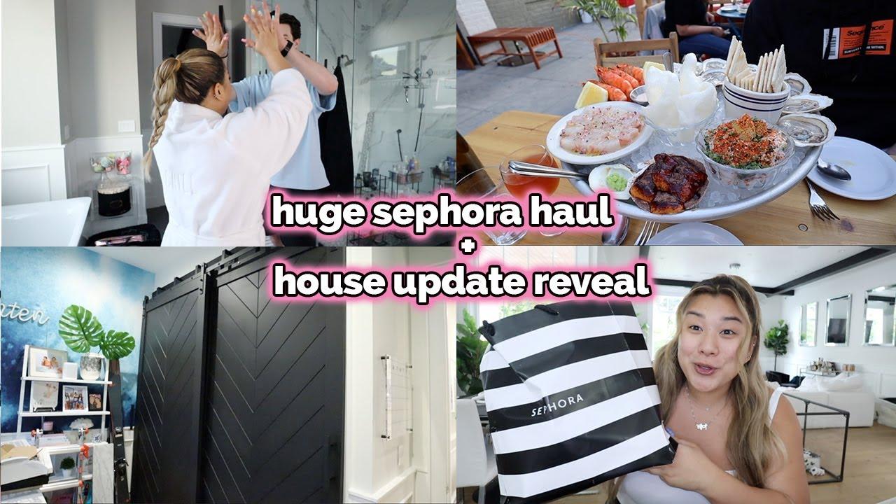 HOUSE UPDATE REVEAL + huge sephora haul!!