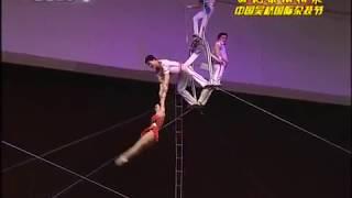 DPRK Circus Flying Trapeze Girls - 朝鲜平壤杂技团 空中浪桥飞人