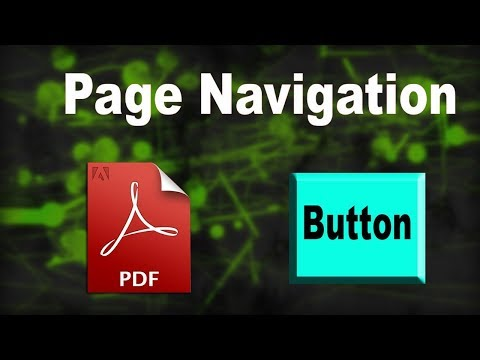 PDF Tutorial- How to Create Page Navigation Button in pdf by using adobe acrobat pro