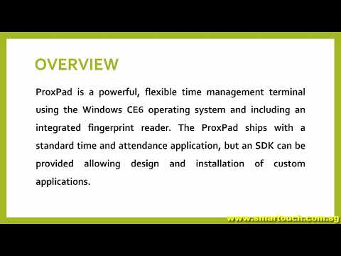 Card Readers Singapore : ProxPad-CE6 Overview and Features For Payroll Singapore