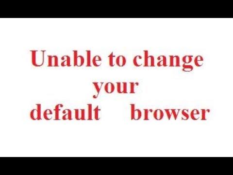 unable to set a default browser