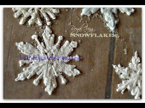 How To Make Beautiful Royal Icing Snowflakes