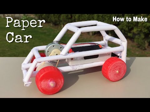 How to Make a Paper Car - Electric Powered Car - Easy to Build - Tutorial