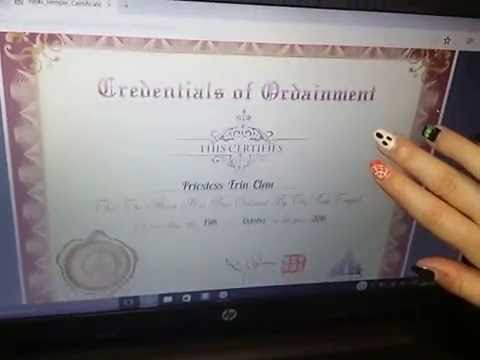 New From Erin's Reviews I Got Ordained!!!