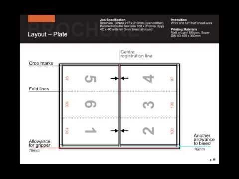 Imposition of a bi-fold brochure on Super DIN A3