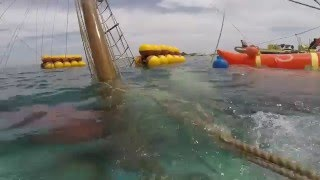 Refloat sailboat underwater marine salvage diving team Pinguim sub