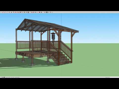Freestanding Deck for Manufactured Home