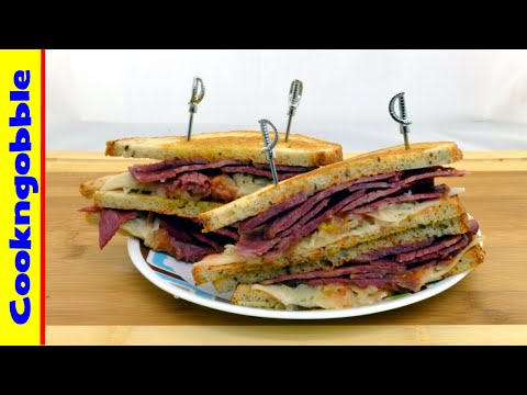 Reuben Sandwich, with homemade dressing.