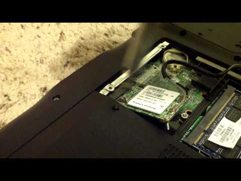 How to replace a wireless card in a laptop