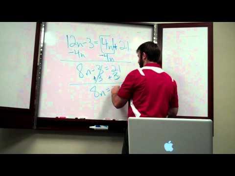 Solving equations 001