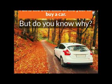 Fall is the Best Time to Purchase a Car - Do You Know Why?
