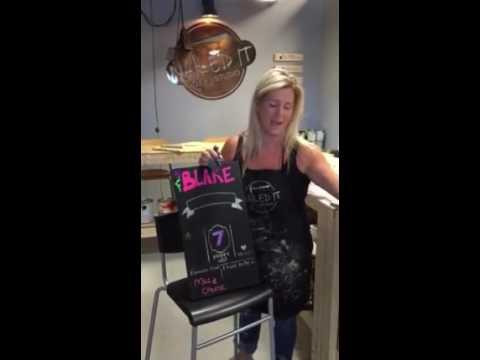 Erasing Chalkboard Paint Markers from chalkboard paint