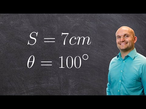 How to find the radius of a sector given arc length and theta