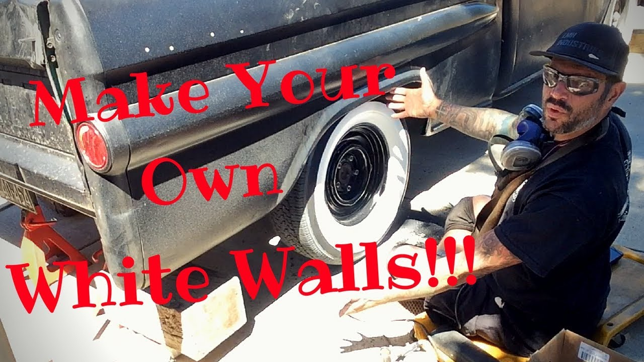 The Best Way to Make WHITEWALLS Using PAINT!!!