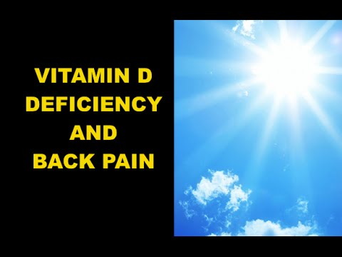 Atlanta Chiropractor - Back Pain and Vitamin D Deficiency - Car Accident Doctor Atlanta