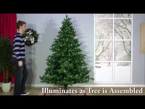 Snowtime Ashley Pine Ready Shape Pre-Lit Christmas Tree