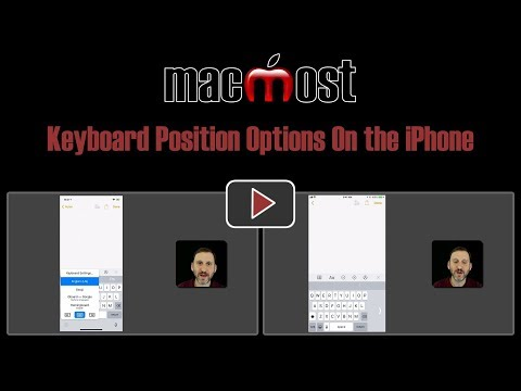 Keyboard Position Options On the iPhone (#1658)
