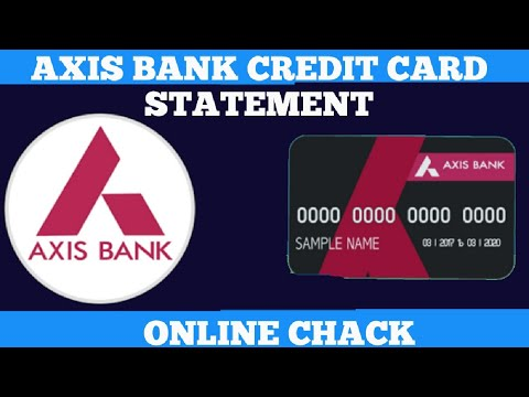 How to chack axis credit card statement online in hindi || view axis credit card statement online ||