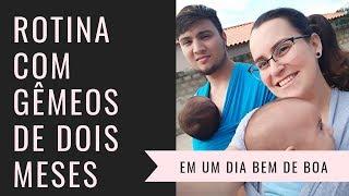 Nossa rotina com DOIS bebês de dois meses // Lorenna e os gêmeos