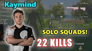 Kaymind - 22 KILLS - M416 + QBU - SOLO SQUADS! - Archive Games - PUBG