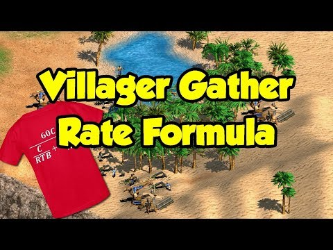 Villager Gather Rate Formula