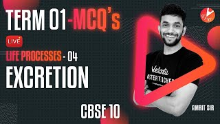 Term 1 MCQ's - Life Processes L-4 [Excretion] CBSE 10 Science Chapter 6 (Biology)   Vedantu 9 and 10