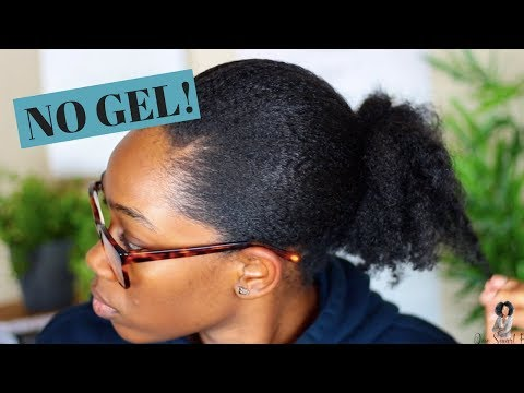 Sleek Puff On Thick Natural Hair | NO GEL NEEDED