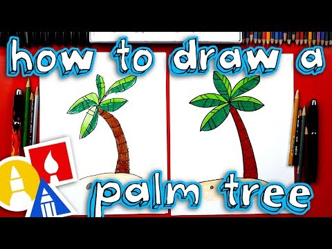 How To Draw A Palm Tree 🌴