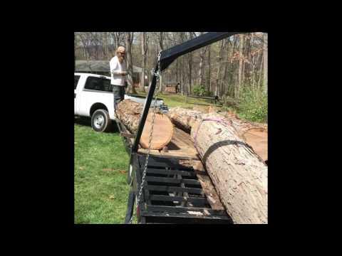Loading Highly Valuable White Oak Log
