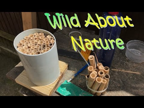How To Make A Bug Hotel / Insect Habitat In 15 Minutes !