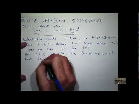 When do vector functions intersect?