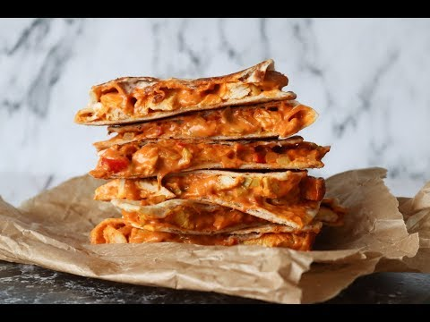 Delicious Quesadillas With A Creamy Chicken Filling - By One Kitchen