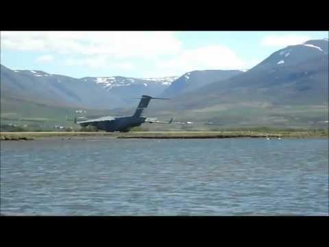 C-17 departing Akureyri airport in Iceland