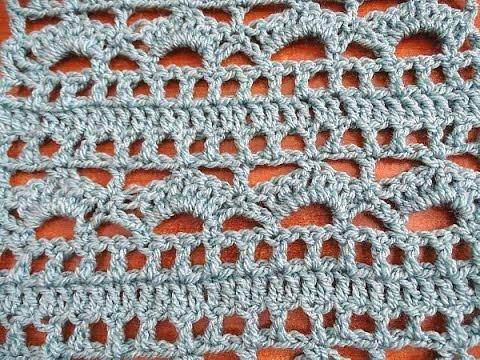 Shells and Borders Crochet Stitch Pattern - Crochet Tutorial