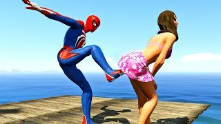 GTA 5 Water Ragdolls | SPIDERMAN Jumps/Fails (Euphoria physics | Funny Moments)