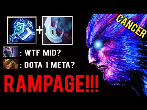 DOTA 1 MID HERO IS BACK! Rampage vs Counter Pick Only Gank