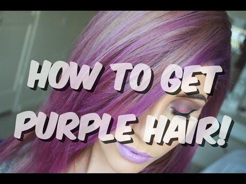 DIY| Brown To Purple Hair Vlog