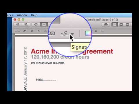 How to sign a PDF easily in Mac OS X