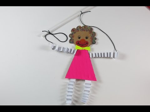 DIY Learn How to Make a Paper Clown Puppet