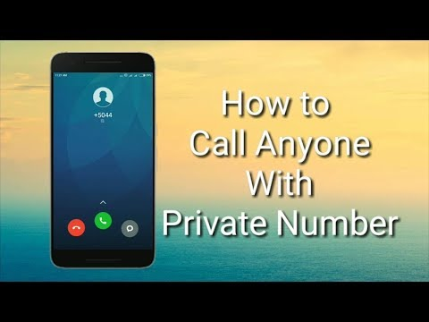 Call anyone without showing your number!