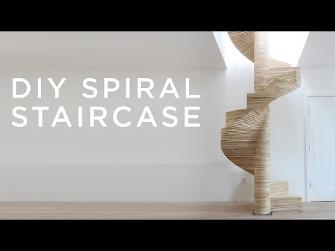 DIY Spiral Staircase made with a CNC