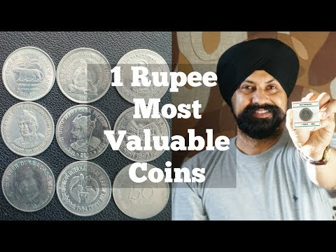 Most Valuable 1 Rupee Commemorative Coins
