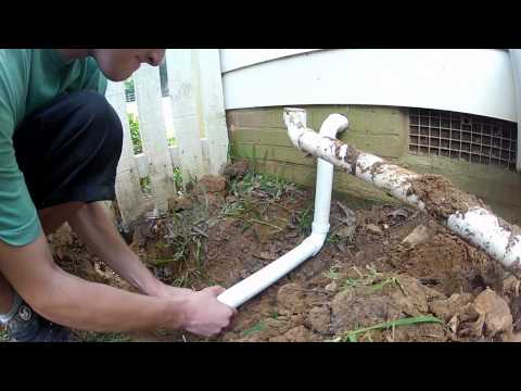How To, Plumbing the Sump Pump Discharge out of the Crawl Space, DIY