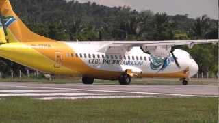 Cebu Pacific ATR 72-500 RP-C7258 take off @ Caticlan/Boracay airport. FULL HD 1080P