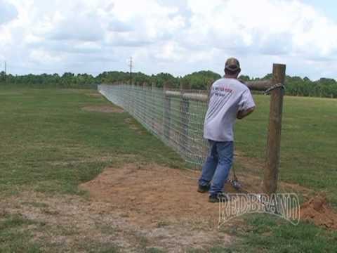 V-Mesh Horse Fence Installation Part 1 of 2