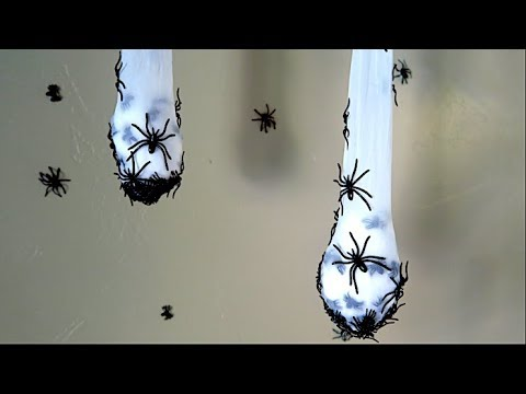 How To Make Creepy Spider Nest Halloween Decoration!