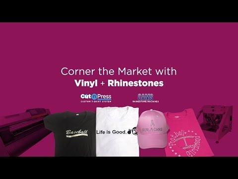 Corner the Market with Rhinestones and Vinyl   Live Online Webinar