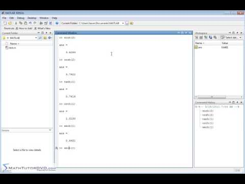 ar   Matlab Essential Skills   Sect 17   Hyperbolic Functions and their Inverses