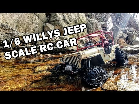 [ICORT, ANZAKA] 지프 윌리스 1/6 WILLYS JEEP SCALE RC CAR OFFROAD TRAIL